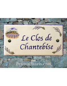 Plaque pour maison en céramique décor Provençal