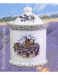 Série Pot de cheminée festonné décor Fleuri vert