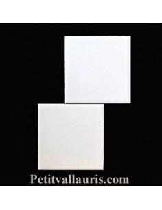 Carreau blanc brillant 10x 10 cm épaisseur 0.5 cm
