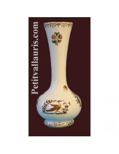 Soliflore boule en faïence décor Tradition Vieux Moustiers polychrome