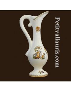 Aiguière en faïence décor Tradition Vieux Moustiers polychrome