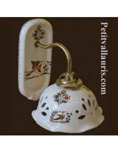 Applique modèle Col de cygne décor Tradition Vieux Moustiers polychrome