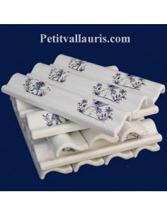 Listel corniche décor Tradition Vieux Moustiers bleu