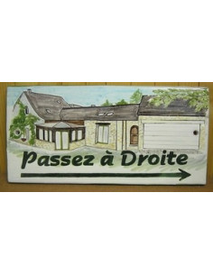 Plaque de Maison rectangle décor personnalisé maison modèle client en bretagne