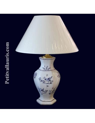 Lampe en fa ence hexagonale d cor tradition vieux for Faience hexagonale