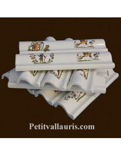 Listel corniche décor Tradition Vieux Moustiers polychrome