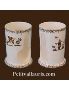 Distributeur de coton décor Tradition Vieux Moustiers polychrome