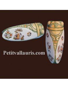 Cigale faïence céramique décor Tradition Vieux Moustiers polychrome (T.3)