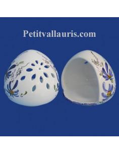 Cache éponge décor Fleur bleue