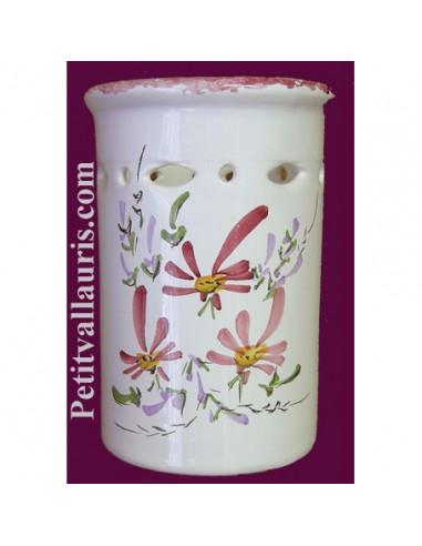 Porte ustensile de cuisine ajour fleur rose le petit vallauris - Porte ustensile de cuisine ...