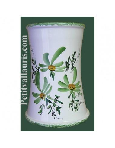 Porte ustensile de cuisine fleuri vert le petit vallauris - Porte ustensile de cuisine ...