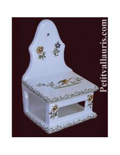 Boîte à allumettes décor Tradition Vieux Moustiers polychrome