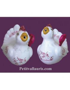 Distributeur de ficelle Cocotte décor Tradition Vieux Moustiers rose