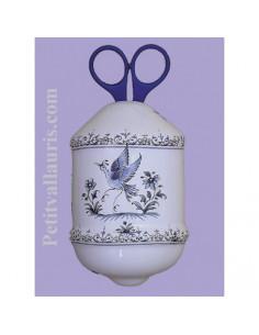 Distributeur de ficelle décor Tradition Vieux Moustiers bleu