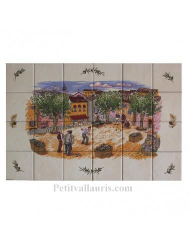 Fresque c ramique d cor partie de p tanque le petit for Le petit vallauris