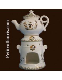 Tisanière en faïence décor Tradition Vieux Moustiers polychrome