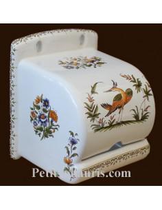 Dérouleur de papier toilette décor Tradition Vieux Moustiers polychrome