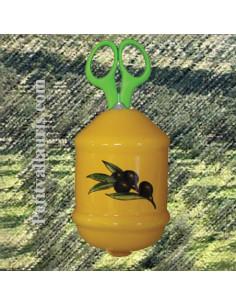 Distributeur de ficelle couleur provençale décor Olive noire