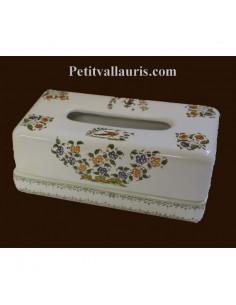 Bo te mouchoirs papier en fa ence blanche au d cors - Boite pour ranger les papiers ...
