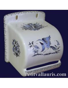 Dérouleur de papier toilette décor Tradition Vieux Moustiers bleu