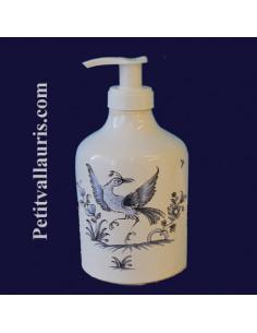 Distributeur de savon liquide décor Tradition Vieux Moustiers bleu