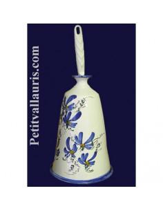 Porte balayette décor Fleuri bleu