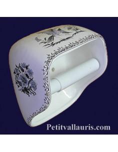 Dérouleur de papier toilette décor Tradition Vieux Moustiers bleu NM