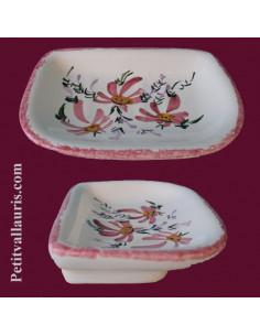 Porte savon modèle Annie décor Fleur rose