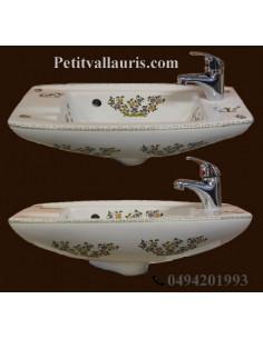 Lave-main modèle Imola décor Tradition Vieux Moustiers polychrome