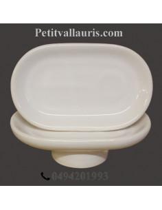Porte savon modèle Anneau décor émaillé uni blanc