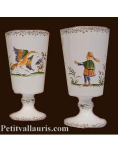 Mazagran décor Tradition Vieux Moustiers polychrome personnalisé prénom