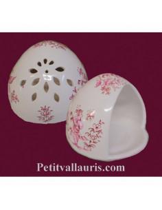 Cache éponge décor Tradition Vieux Moustiers rose