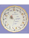 Assiette de naissance Louis XV décor petites souris modèle garçon
