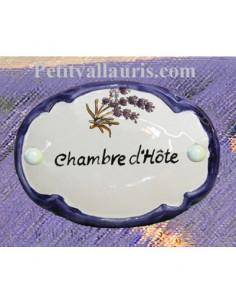 Plaque de porte ovale Chambre d'hôte Brin de Lavande