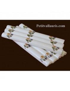Listel fin décor Tradition Vieux Moustiers polychrome