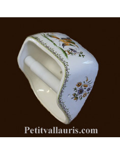 Dérouleur de papier toilette décor Tradition Vieux Moustiers polychrome NM