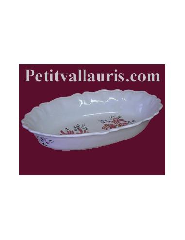 Corbeille fruit ou pain ovale d cor fleur rose le - Corbeille de fruits maison du monde ...