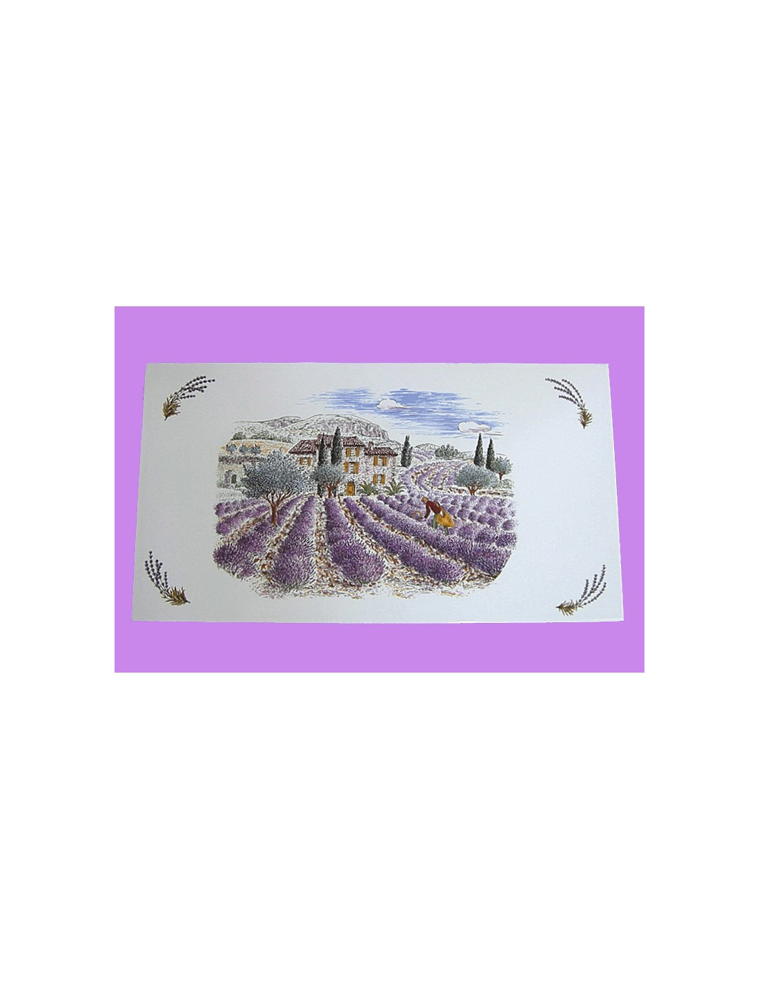 Fresque c ramique rectangulaire d cor r colte des lavandes for Le petit vallauris