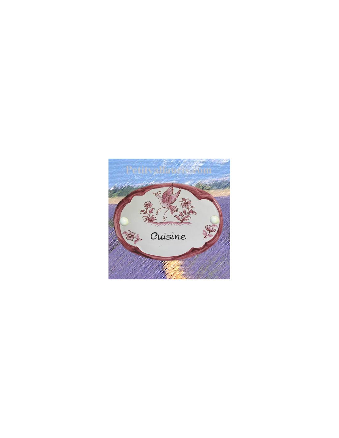 Plaque ovale inscription cuisine d cor tradition vieux for Plaque faience cuisine