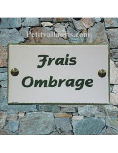 Plaque de Villa rectangle signalitique inscription personnalisée et bord vert