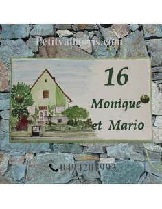 Plaque de Maison décor personnalisé pavillon modèle client en Alsacee