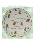 Assiette de naissance Louis XV décor Ourson bord vert