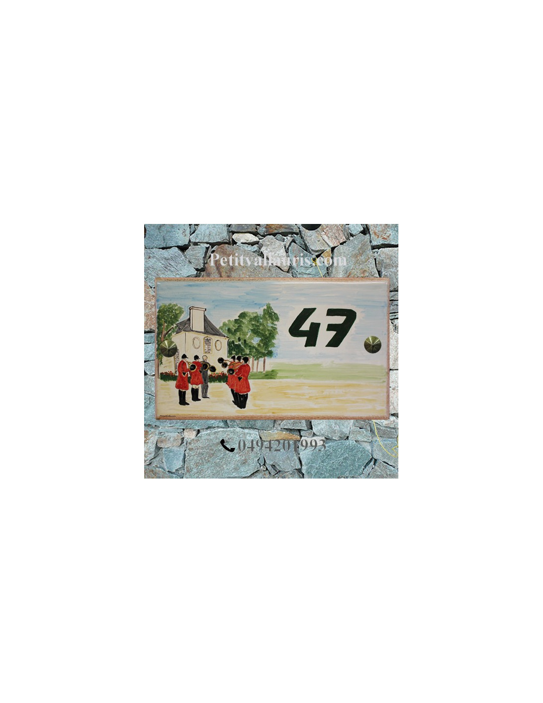 Plaque pour pavillon en c ramique d cor chasse cour for Decoration maison chasse