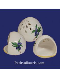 Cache éponge décor Olives bleues