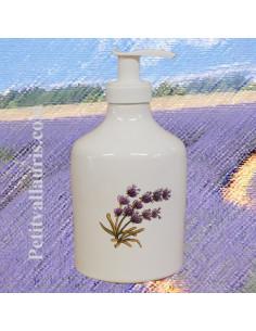 Distributeur de savon liquide décor Brin de lavande