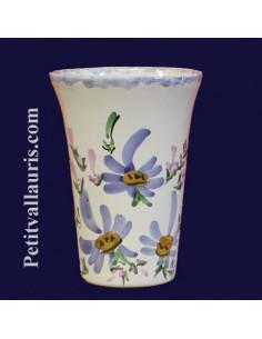 Verre à dents décor Fleuri bleu