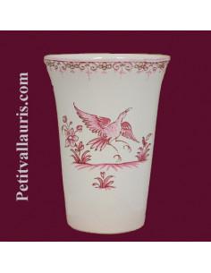 Verre à dents décor de Tradition Vieux Moustiers rose