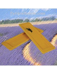Repose-cuillère couleur jaune provençal décor Olive noire