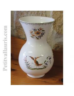 Vase Nadine Taille 2 en faïence décor Tradition Vieux Moustiers polychrome