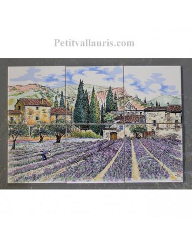 Le petit vallauris for Fresque carrelage